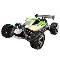 Buggy WLToys A959-B 1:18 Brush Electric RC Car 70km/h 2.4G Green Ready-To-GoRemote Control Car / Remote Controller/Transmitter / Battery