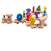 Building Blocks Educational Toy For Gift Building Blocks Model Building Toy Train Wood 2 to 4 Years 5 to 7 Years Toys