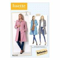 Butterick Misses Funnel Neck Peter Pan or Pointed Collar Coats 386440