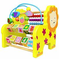 Building Blocks Educational Toy Toy Abacuses For Gift Building Blocks Leisure Hobby Lion Wood 2 to 4 Years 5 to 7 Years Toys