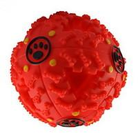 Cat Toy Dog Toy Pet Toys Ball Squeak / Squeaking Food Dispenser Rubber