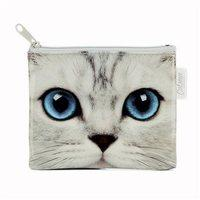Catseye Silver Kitty Coin Purse