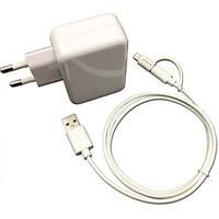 CE Certified EU Travel Wall Charger 1A/2.1A Double output MFi Certified Lightning Micro USB cable For iPhone 6S
