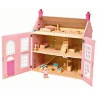 Chad Valley Wooden 3 Storey Dolls House