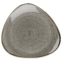 Churchill Stonecast Peppercorn Grey Triangular Plate 26.5cm (Case of 12)