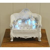 Christmas Village Scene on Two-seat Sofa Decoration (Battery) by Kingfisher