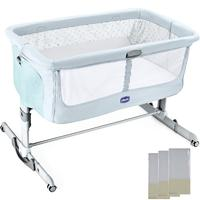 Chicco Next2Me Dream Crib-Fairytale (New) + Free 3 Fitted Sheets Worth £30!