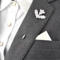 Chic Leaf Shape Design Brooch For Men
