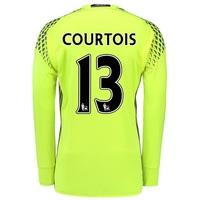 Chelsea Goalkeeper Shirt 16-17 with Courtois 13 printing, Yellow