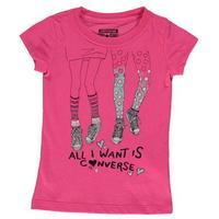 Converse 76J Short Sleeve Tshirt Infant Girls
