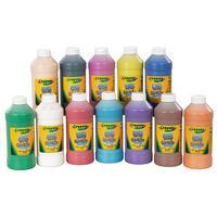 Crayola Washable Paint Assortment 12 x 473ml Bottles