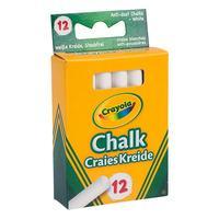 Crayola 12 Anti Dust Chalk White