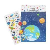Create a Space Sticker Scene
