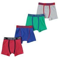 Crafted 4 Pack Jaquard Boxers Child Boys