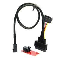 CY SF-093/SF-094 U.2 U2 Kit SFF-8639 NVME PCIe SSD Adapter & Cable