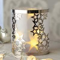 Decorative light LED candles with stars, 3D effect