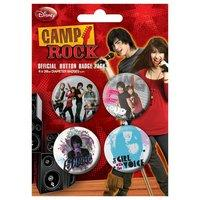 Disney Camp Rock 2 - Badge Pack - Pack Of 4 X 38mm Badges - Brand New