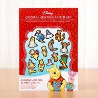 Disney Winnie the Pooh Christmas Colourful Creations Paper Pad 407511