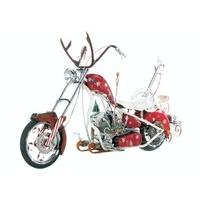 Diecast Model Christmas Bike (Orange County Choppers) (1:10 scale by ERTL) in Red