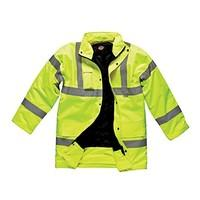 Dickies High Visibilty Hi-Vis Yellow Safety Motorway Jacket (XX-Large Chest 52\