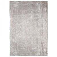 Distressed White Plains Cotton Chevron Rug- Louis de Poortere 200x280
