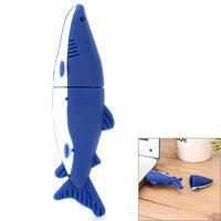 Dolphin Style USB 2.0 Flash Drive - Blue + White (16GB)