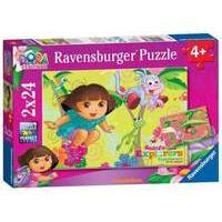 Dora the Explorer 2x 24pc Jigsaw Puzzle