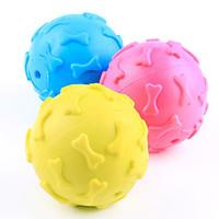 Dog Toy Pet Toys Ball Chew Toy Squeak / Squeaking Bone Rubber