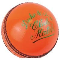 Dukes Club Match A Cricket Ball 5.5oz Orange