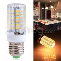 E27 12W 56SMD 5730 5630 LED Spot Light Corn Lamp Bulb Warm White AC110V