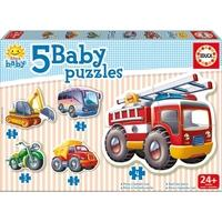 EDUCA Baby Early Learning Vehicles Jigsaw Puzzles 5 Piece Set