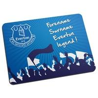 Everton Personalised Legend Mouse Mat, Blue