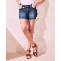 Evie Crochet Hem Denim Shorts