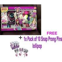Extra Large Size- 6-in-1 Knitting Set Cool Girls Creation + Free One Pack Of 10
