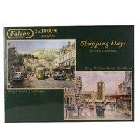 Falcon De Luxe - Shopping Days Jigsaw Puzzles In One Box (1000 Pieces, Pack Of