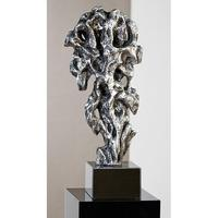 Fantastic Sculpture In Silver With Black Base
