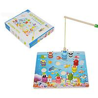 Fishing Toys For Gift Building Blocks Model Building Toy Square Wood Toys