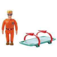 Fireman Sam Figure & Accessory - Tom with Rescue Stretcher