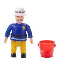 Fireman Sam Figure & Accessory - Officer Steele with Bucket