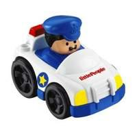 Fisher Price Little People Wheelies White Police Car