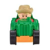 Fisher Price Little People Wheelies (green Tractor) (cdh48)