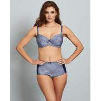 Fleur Full Cup Wired Bra Navy
