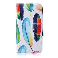 For Samsung Galaxy Case Wallet / Card Holder / with Stand / Flip Case Full Body Case Feathers PU Leather SamsungJ7 / J5 / J3 / J2 / J1