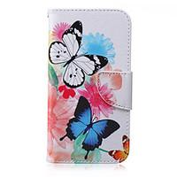For Samsung Galaxy Case Wallet / Card Holder / with Stand / Flip Case Full Body Case Butterfly PU Leather SamsungJ7 / J5 / J3 / J2 / J1