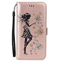 For Samsung Galaxy A7 2017 A5 2017 Card Holder Wallet with Stand Flip Embossed Case Full Body Case Sexy Lady Hard PU Leather for A3 2017 A510 A310 A5