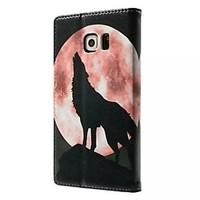 For Samsung Galaxy Case Wallet / Card Holder / with Stand / Flip Case Full Body Case Animal PU Leather Samsung S6 edge
