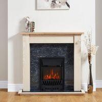 Focal Point Elegance Black Electric Fire Suite
