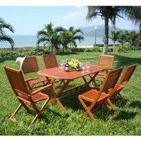 Garden Furniture World Essentials 6 Seater Wooden Dining Set