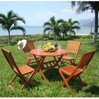 Garden Furniture World Essentials 4 Seater Wooden Dining Set
