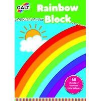 Galt Toys Rainbow Block Sheet Pad - 60 Pieces